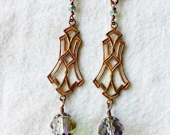 Elegant Gingerbread Cutout Earrings