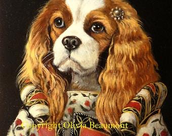 "King Charles Cavalier - ""Princessa"" print"