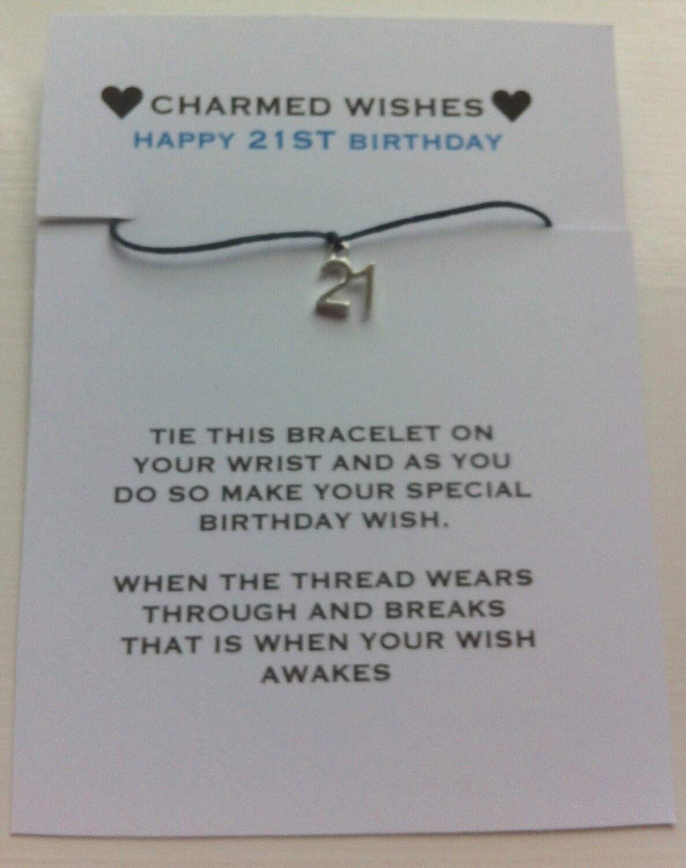 Birthday Quotes For Brother Turning 21 : St birthday bracelet wish by charmedwishesuk