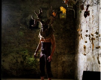 Stag Mask - Custom Made in Papier Mache
