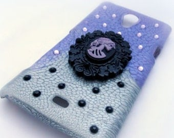 Creepy cameo phone case, custom made spooky gothic phone case