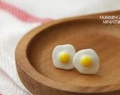 Sunny Side Up Eggs - Post Earrings