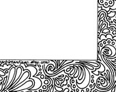 Abstract border stationery page