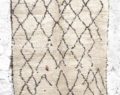 BENI OUARAIN RUG - Vintage Moroccan Wool Rug - Splashes Color