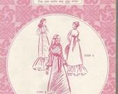 1970s Muu Muu Dress Pattern Stand Up Collar Ruffled Hem Short Long Sleeve Empire Waist Patterns Pacifica 3000 FF Size 6 - 16 Sewing Pattern