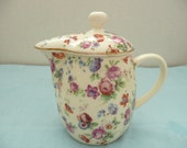 "Erphila Dorset ""Cheery Chintz"" Covered Creamer - Teapot for One"