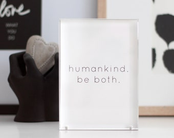 humankind.be both. print // humankind print // human kindness print // print for office // family gallery wall print / Size 5x7 VERTICAL