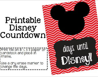Instant Download Printable Disney Countdown