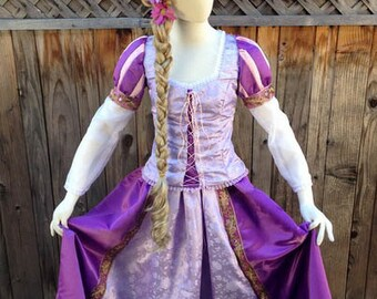 Rapunzel Tangled Romantic Version Adult Custom Costume  in your Size