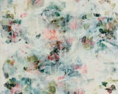 Painting  Encaustic   Beeswax Painting texture on wood Pluie  Swalla Studio 16 x 12