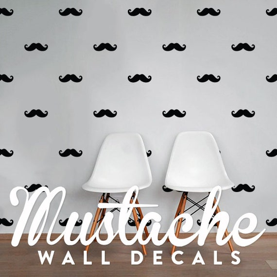 mustache wall decal pack vinyl wall sticker decal art pattern mustache chalkboard wall decal set of 3 by alphabet