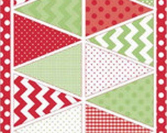 Riley Blake Fabric - 1 Holiday Banners Panel in Multi - Christmas