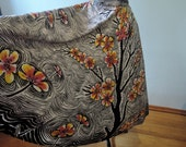 """Vintage Hand Painted Mexican Circle Skirt, signed """"Carmona"""""""