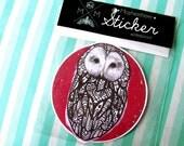 Ural Owl Sticker Waterproof Decal
