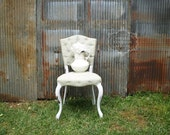 S H A B B Y Chic Antique Mint Tufted Side Chair