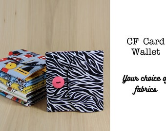 CF Memory Card Holder Wallet - Custom Fabrics - Made to Order