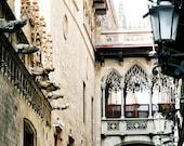 Barcelona Photography - Gothic Quarter Photo - Spanish Architecture Print - Urban Art Spain Photograph Square Neutral DecorTravel