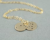 Zodiac 14k Gold Filled Constellation Hand Stamped Necklace