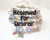 Reserved For Desiree' - Gypsy Bangle Set and Pastel Bangle Set
