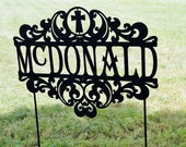 Custom Family Name Personalized Yard or Garden Stake