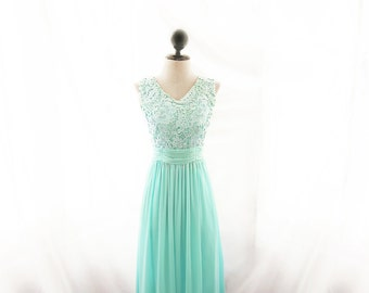 Dress Seafoam Jazz Age Maid of Honor Elven Prom Gown Mint Bridesmaid Cocktail Green Blue Evening Dress Rehearsal Dinner Etherea Romantic