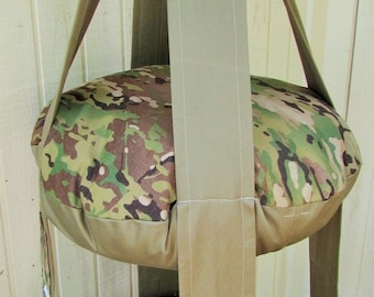 Cat Bed Green Camouflage Double Hanging Cat Bed, Kitty Cloud Cat Bed, Pet Furniture, Gift