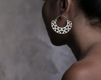 Azteka Hoops Small - Boho Jewelry - Statement Earrings - Geometric Jewelry