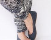 Ballet flats - Eko in Navy Blue - Handmade Leather ballerinas - Barefoot type - Minimalistic soles and CUSTOM FIT