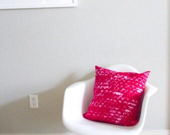 SALE - Diamond Texture Batik Pillow - Hot Pink