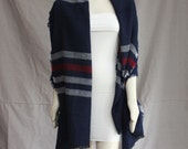 Oversized Navy Stripe Blanket Scarf Tan Blanket Scarf Blanket Scarves Pashmina Shawl Warm Winter Scarf Wrap Nomad Scarf Zara