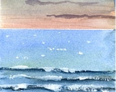 New Day on the Water print of watercolor by Mary Blocksma 8x10 Mat