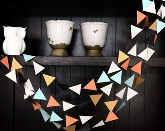 Triangle Garland, Modern Garland, Geometric Garland, Paper Garland, Gold Triangle Garland