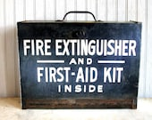 Vintage First Aid Kit / Fire Extinguisher Box