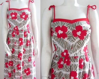 vintage 70s sundress summer midi dress floral Jenni