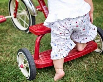 4th of July Pants, Shorts, or Capris - Girls Ruffle Shorts, Girls Shorts, Ruffle Pants, Girls Ruffle Pant Set, Girls Capris, Ruffle Capris