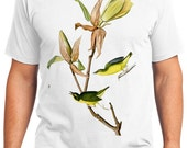 Kentucky Warbler Bird Retro Men & Ladies T-shirt - Gift for Bird Lovers and Ornithologist (idc038)