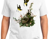 Yellow-breasted Chat Bird Retro Men & Ladies T-shirt - Gift for Bird Lovers and Ornithologist (idc137)