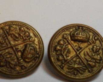set of vintage metal shank buttons
