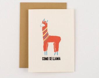 Como Se Llama Greeting Card