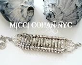 Mystic Goddess Bracelet / Anklet >>Boho ~ Gypsy Coachella Festival, Urban, Silver Turkish Wide Bracelet ~Free shipping US