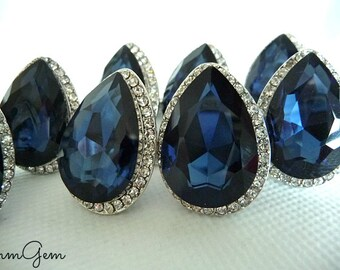 Cobalt ring, sapphire ring, sapphire crystal ring, cobalt crystal ring, royal blue ring, blue ring, cobalt crystal ring, cobalt, size 8.5