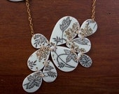 Botanical Prints Necklace - Recycled China - Material and Movement