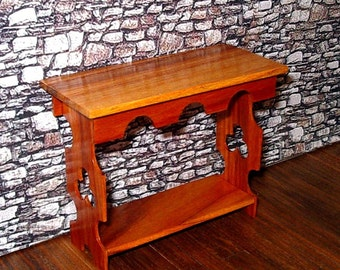 Gothic Sideboard, Tulipwood Table, Dollhouse Miniature, 1/12 Scale, Hand Made
