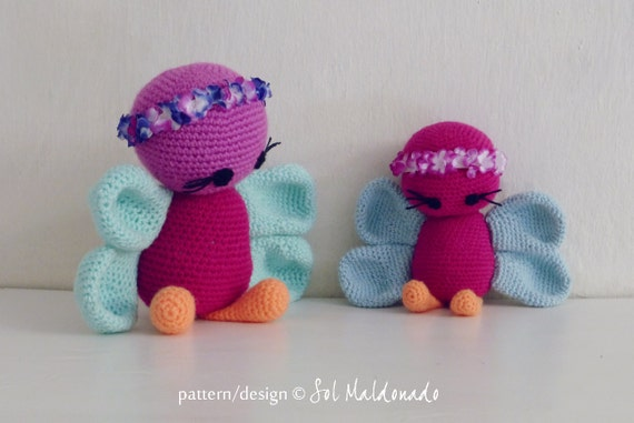 Amigurumi Butterfly Tutorial : Crochet Amigurumi Pattern Butterfly PDF butterflies