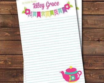 Personalized Children's Stationery, Kids Stationery, DIY Stationery, Printable Stationery,