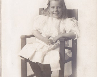 Marvelous Mildred- 1900s Antique Photograph- Edwardian Child- Identified Portrait- Beautiful Girl- Paper Ephemera