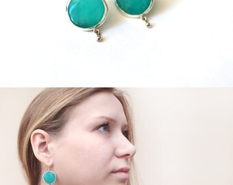 turquoise earrings - turquoise silver earrings - aquamarine earrings - turquoise dangle earrings - bridesmaid earrings - Bridesmaid gift