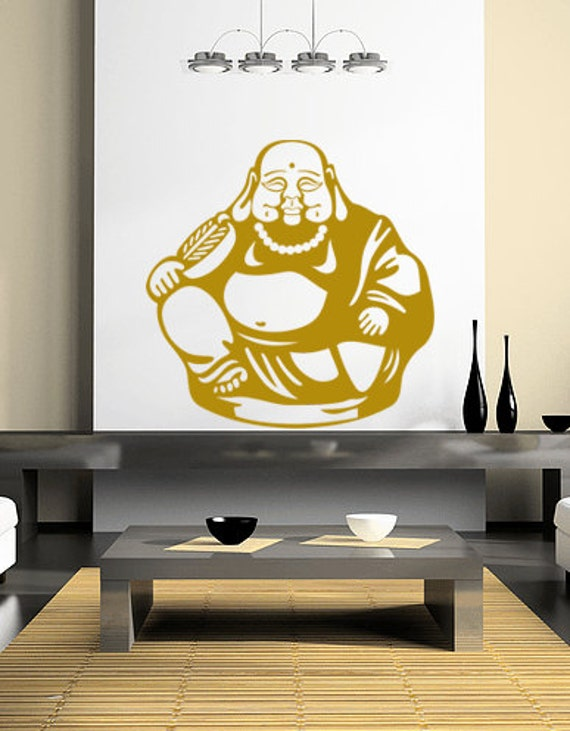 Buddha Vinyl Wall Decal Sticker Graphic  Sitting