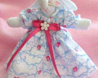 Blue Bunny Doll