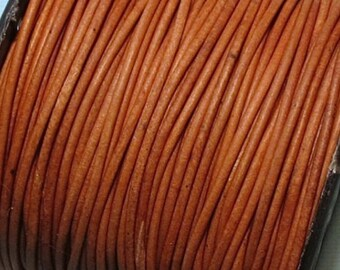 Leather - Natural - 1.5mm - Leather Lacing - 10 Meters - Leather Cord